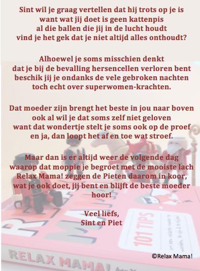 Sinterklaasgedicht relax mama 2014_2