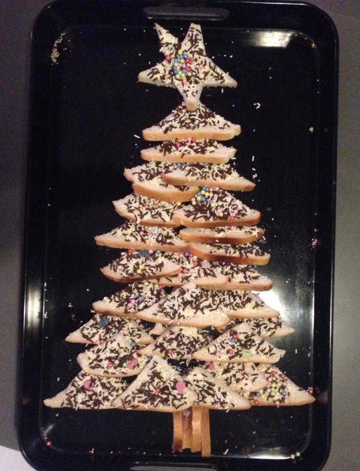 Kerstboom boterhammen