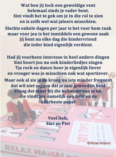 Sinterklaasgedicht Relax Papa 2013