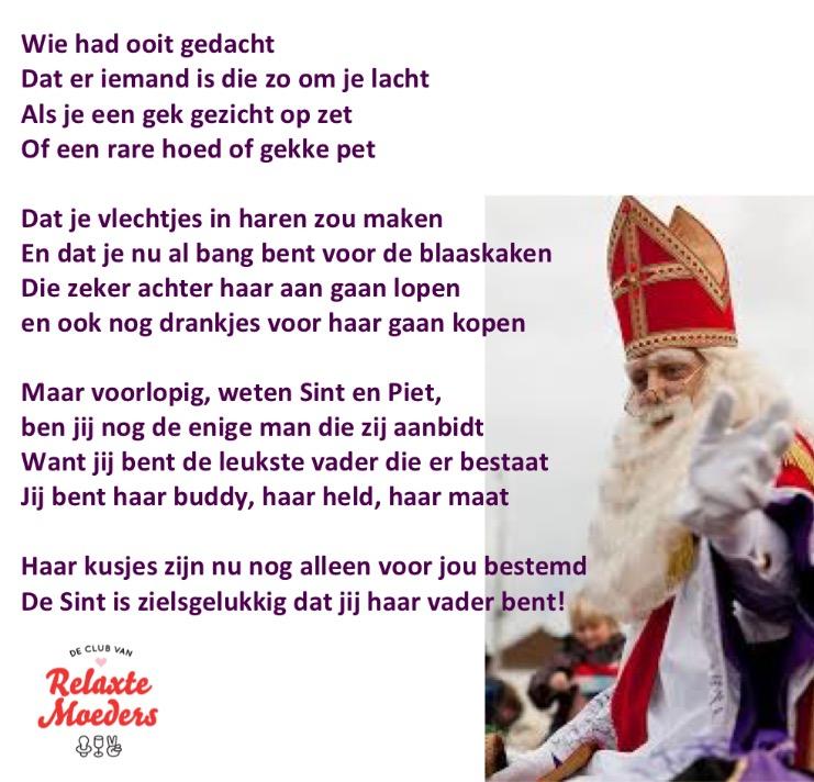 Sinterklaasgedicht Relax Papa 2015 dochter