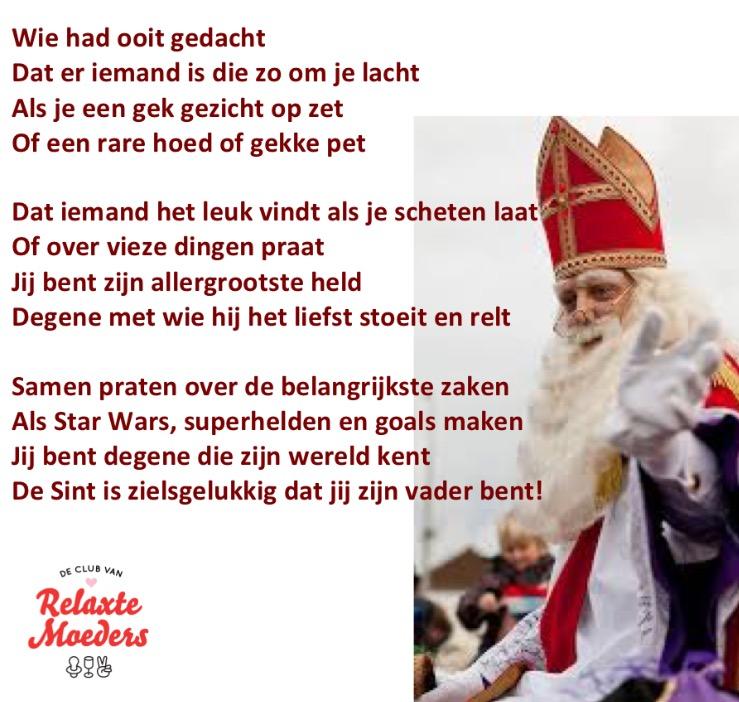 Sinterklaasgedicht Relax Papa 2015 zoon