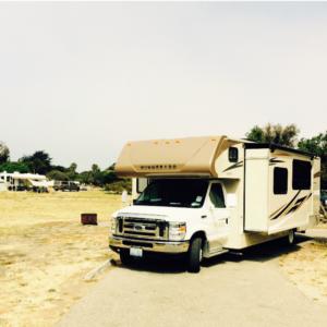 Op de camping bij Morro Bay