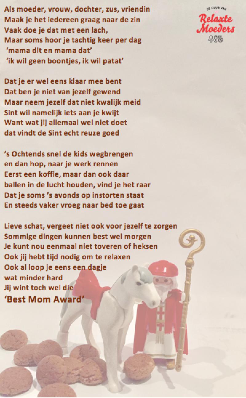 Relax Mama Sinterklaasgedicht 2016