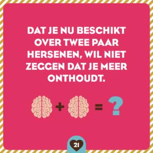 Zwangerschapskalender twee paar hersenen