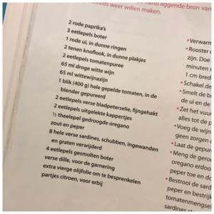 lijst sardientjes
