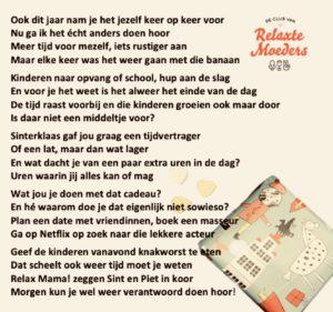 Relax Mama Sinterklaasgedicht 2018 Club Van Relaxte Moeders